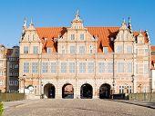 medieval Green gate (zelena brama) Gdansk