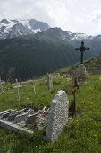 Old cemetery in the mountains.