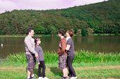 Family at the lake.