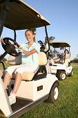 Golfistas de mulheres