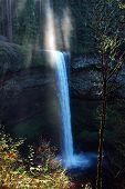 Sun Ray At Silver Falls