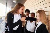 Teenage Girl Being Bullied At School poster