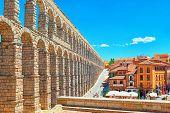 Aqueduct Of Segovia (or More Precisely, The Aqueduct Bridge) Is A Roman Aqueduct In Segovia. poster