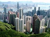 foto of urbanisation  - View from Peak Hill of Hong Kong City - JPG