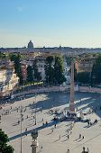 Piazza del Popolo in day time in Rome, Italy. poster