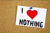 nothing poster