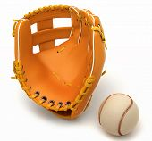Sports In Usa: Baseball Glove And Ball