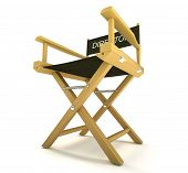 Filmmaker Or Producer: Directors Chair On White