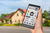 Smartphone With Remote Smart Home Control System poster