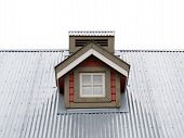 Small Dormer Window in metal roof