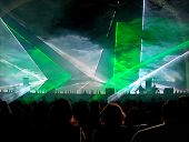 Green Lazer Light Show