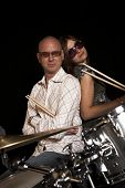Posing On Drums