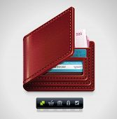 Vector leather wallet XXL icon