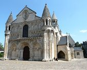 pic of poitiers  - Notre Dame la Grande church in Poitiers France - JPG