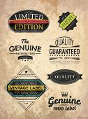 set of retro style labels