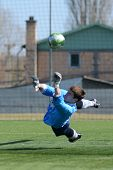 KAPOSVAR, HUNGARY - MARCH 17: Edvard Rusak (goalkeeper) in action at the Hungarian National Champion