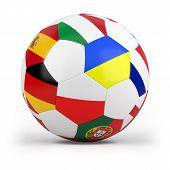 football with european flags