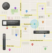 GPS navigation set of vector elements