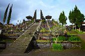 Main entrance to Balinese temple Pura Besakih. Bali Indonesia