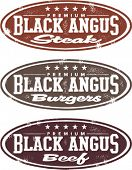 Blank Angus Steak, Burger and Beef Stamps