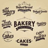 Vintage Retro Bakery Badges And Labels