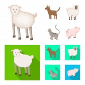 Vector Design Of Breeding And Kitchen Logo. Set Of Breeding And Organic Stock Symbol For Web. poster