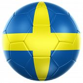 3d rendering of a Swedish soccer ball isolated on a white background