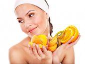 Постер, плакат: Натуральные Домашние фруктовые маски Изолированные