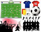 Soccer Set - Vector Illustrations