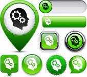 grün Design-Elemente für die Website oder App-Vektor-eps10 denken.