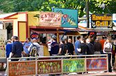 Food carts in downtown Portland OR