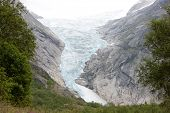 Idyllic picture of glacier Jostedalsbreen, Norway, Europe