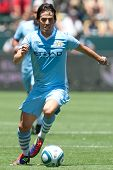 CARSON, CA. - July 24: Manchester City FC M David Silva #21 in action during the World Football Chal