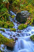pic of upstream  - Vivid colorful falls upstream from Multnomah Falls - JPG