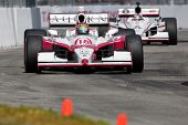 LONG BEACH - APRIL 17: James Jakes driver of the #18 Dale Coyne Racing Acorn Stairlifts Dallara Hond