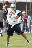 OXNARD, CA. - AUG 15: Dallas Cowboys QB (#9) Tony Romo in action during the second day of the 2010 D