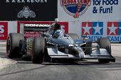 LONG BEACH - APRIL 17: Mike Conway driver of the #27 Andretti Autosport Window World Cares Dallara H