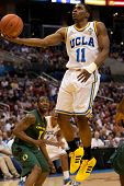 LOS ANGELES - MARCH 10: UCLA Bruins G Lazeric Jones #11 lays the ball up during the NCAA Pac-10 Tour