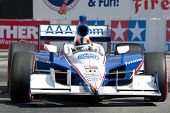 LONG BEACH - APRIL 17: Helio Castroneves driver of the #3 Auto Club of Southern California Team Pens
