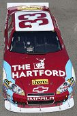 FONTANA, CA. - OCT 9: Sprint Cup Series driver Clint Bowyer in the Cheerios / The Hartford #33 car d