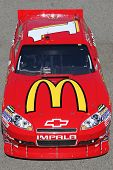 FONTANA, CA. - OCT 9: Sprint Cup Series driver Jamie McMurray in the Mc Donalds #1 car during the Pepsi Max 400 practice on Oct 9 2010 at the Auto Club Speedway.