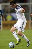 CARSON, CA. - AUG 20: Los Angeles Galaxy F Robbie Keane #14 during the MLS game between the San Jose