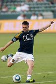 CARSON, CA. - AUG 20: Los Angeles Galaxy F Robbie Keane #14 before the MLS game between the San Jose