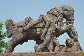 Statue Of A War Horse At Konark Temple