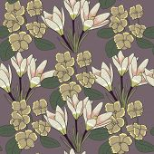 Stylish floral seamless pattern in mild colors