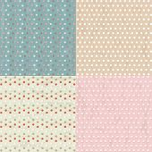 Vintage Paper With Polka Dots Set