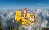 Landscape With National Palace Of Pena, Sintra Region, Lisbon, Portugal poster