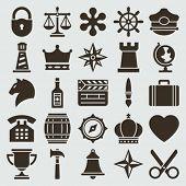 Vintage retro icons set. Vector design elements.
