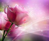 Diseño de arte de rosas. Tarjeta de invitación