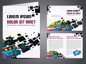 Professional business catalog template or corporate 3 fold brochure design for document, publishing, print and presentation. Vector illustration in EPS 10.